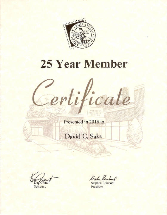 APS 25 Years of Membership
