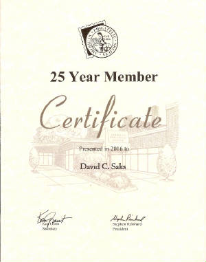 American Philatelic Society 25 Years