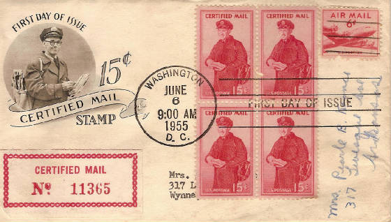 Certified Mail 1955