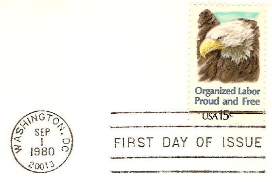 American Labor Movement Stamp 1980