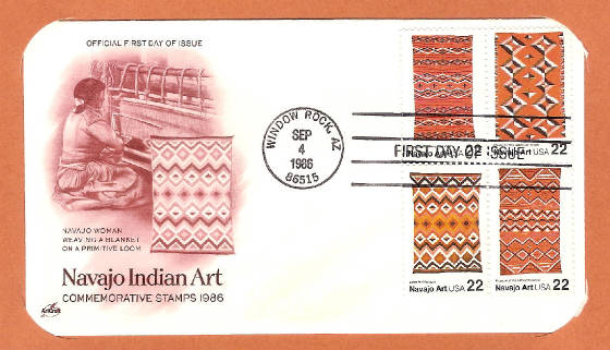 Navajo Indian Art 1986 FDC