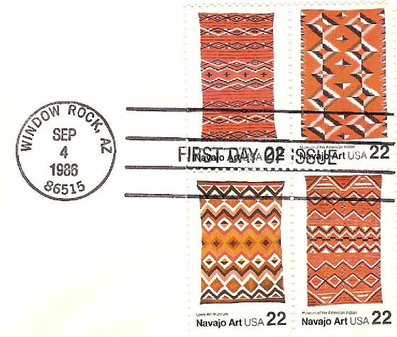 Navajo Indian Art FDC 1986