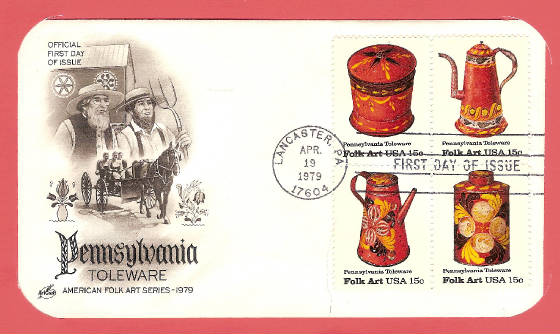 Dutch Pennsylvania Toleware FDC
