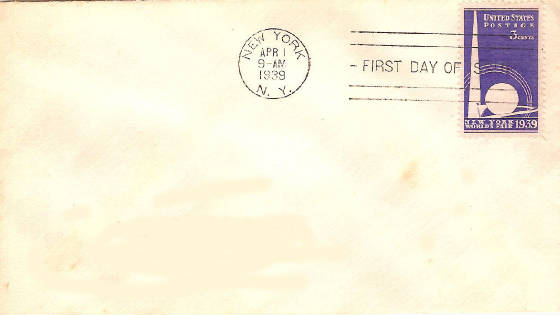 1939 NY World's Fair FDC
