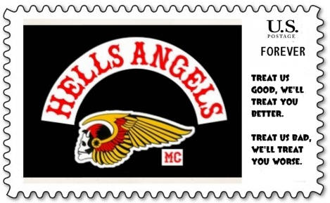 Hell's Angels Stamp